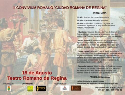 Casas de Reina. 18 ago. CONVIVIUM ROMANO EN REGINA