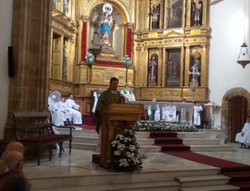 Emocionante misa de despedida del Párroco de Azuaga. Nacho ahora será rector del Seminario de Badajoz