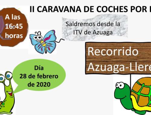 """CAMPIÑA SUR DE EXTREMADURA. El viernes 28F se celebra la """"II CARAVANA LENTA POR LA A-81"""""""
