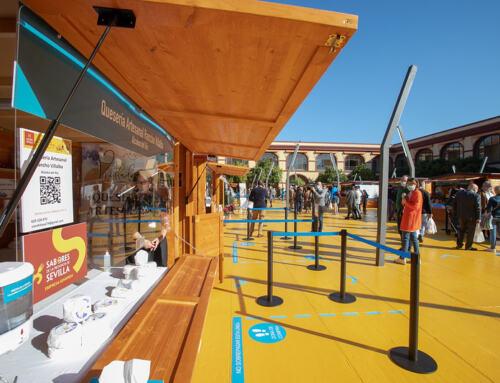 Éxito de público y ventas en la primera de las ferias del patio de la Diputación de Sevilla.