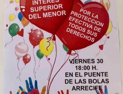MARCHA SOLIDARA simultanea en Lanzarote y en El Pedroso en defensa del menor.