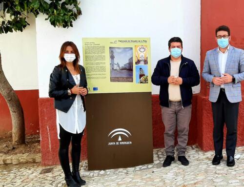 La delegada territorial de Turismo de la Junta de Andalucía visita Almadén de la Plata.